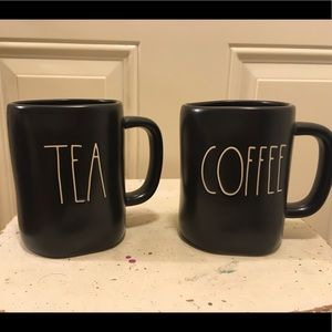 NEW Rae Dunn Set Of Two (2) Tea & Coffee Mugs